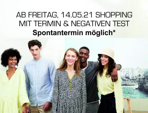 Shopping mit Termin & Negativen Test